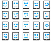 Emotion mobile tablet icons Stock Images