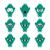 Emotion monster vector. A funny monster with different emotions. Vector graphics Stock Photo