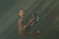 Emotion novice of buddhsim Stock Image