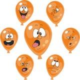 Emotion orange balloon set 007 Royalty Free Stock Image