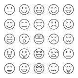 Emotion pixel perfect icons. Vector line editable stroke 48x48 Royalty Free Stock Photos