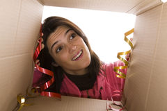 Emotion of the right present Stock Images