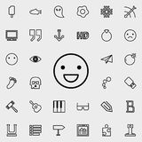Emotion smile outline icon. Detailed set of minimalistic line icons. Premium graphic design. One of the collection icons for websi. Tes, web design, mobile app Royalty Free Stock Photos