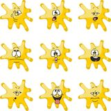 Emotion smiles cartoon yellow blot color set  006 Royalty Free Stock Photo