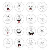 Emotion smiles set 003. Vector. Emotion smiles set 003 Stock Images