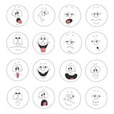 Emotion smiles set 003. Vector. Emotion smiles set 003 royalty free illustration