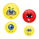 Emotion Smiley Faces. Angry, Confused, Emotion Smiley Faces Stock Photography