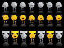 Emotion smileys Stock Image