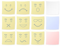 Emotion sticker Royalty Free Stock Images