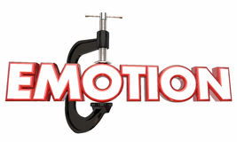 Emotion Suppress Hold Down Inside Clamp Vice Word Stock Image