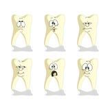 Emotion tooth cartoon set 007. Vector. Emotion tooth cartoon set 007 Royalty Free Stock Image