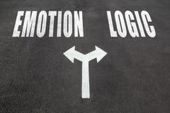 Emotion vs Logic choice concept Stock Images