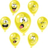 Emotion yellow balloon set 002. Vector. Emotion yellow balloon set 002 Royalty Free Stock Photos