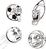 Emotiona Kugelkarikaturen Lizenzfreie Stockbilder