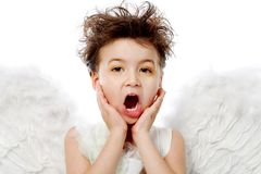 Emotional angel Stock Images