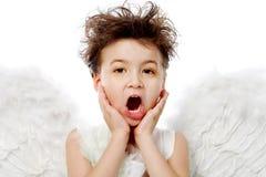 Emotional angel Stock Images