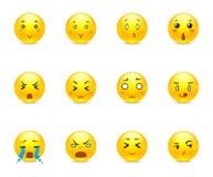 Emotional anime smilies Stock Image