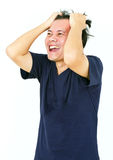 Emotional Asian Man. Stock Photography