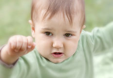 Emotional baby Royalty Free Stock Photo