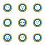 Emotional bond icons set, flat style. Emotional bond icons set. Flat set of 9 emotional bond vector icons for web isolated on white background Stock Photo