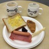 Emotional breakfast. stock photo