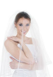 Emotional bride Royalty Free Stock Image