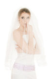 Emotional bride Stock Photo
