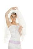 Emotional bride Stock Images