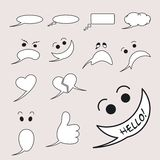 Emotional_bubbles. Bubbles for short text with emotions vector illustration