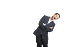 Emotional businessman screaming Stock Images
