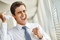 Emotional businessman Stock Image