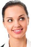 Emotional businesswoman. Portrait of emotional businesswoman, isolated on white Stock Photos