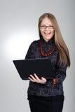 Emotional businesswoman Stock Image