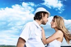 Emotional couple Stock Photo