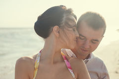 Emotional couple Royalty Free Stock Image