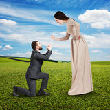 Emotional couple at outdoor Stock Photos