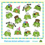 Emotional cute frogs Royalty Free Stock Photography