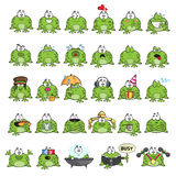Emotional cute frogs Stock Images