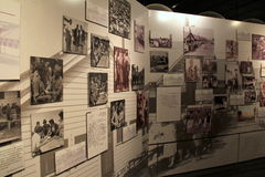 Emotional exhibit of life in America, for refugees surviving horrors of WWII, Safe Haven Museum, Oswego, New York, 2016 Royalty Free Stock Images