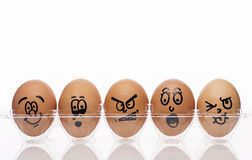 Emotional Expression Eggs Royalty Free Stock Photos