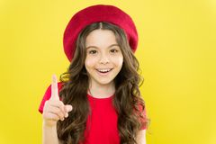 Emotional expression. Playful teen model. Acting skills concept. Tips and tricks to loosen up in front of camera. Acting. School for children. Girl artistic kid stock photo