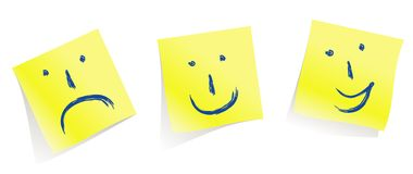 Emotional faces :-)   :-(   :-D   /vector Royalty Free Stock Photos