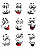 Emotional faces set Stock Images