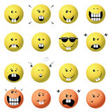 Emotional faces Royalty Free Stock Images