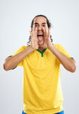Emotional fan football Stock Images