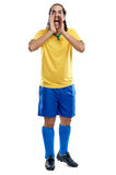 Emotional fan football Stock Photo