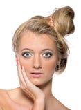 Emotional girl model Stock Images