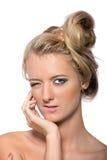 Emotional girl model Royalty Free Stock Photography
