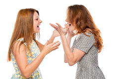 Emotional girl shouting and arguing Royalty Free Stock Images