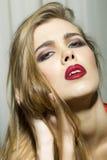Emotional glamour girl royalty free stock photography